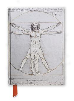 Premium Notizbuch DIN A5: Leonardo da Vinci, Vitruvianischer Mensch