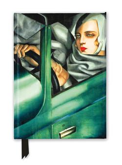 Premium Notizbuch DIN A5: Tamara de Lempicka, Autoporträt – Tamara im grünen Bugatti