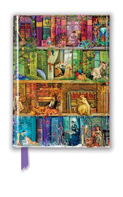 Premium Notizbuch DIN A6: Aimee Stewart, Bücherregal Carpe Diem