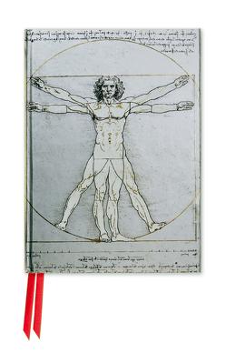 Premium Notizbuch DIN A6: Leonardo da Vinci, Vitruvianischer Mensch