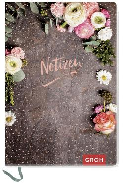 Premium Notizbuch DIN A6 mit Blumen von Groh Kreativteam
