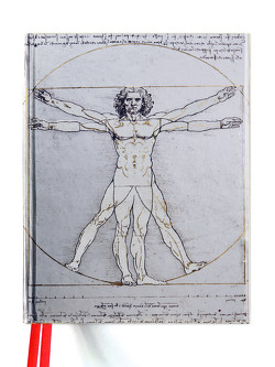Premium Skizzenbuch: Leonardo da Vinci, Vitruvianischer Mensch