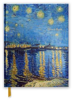 Premium Skizzenbuch: Vincent van Gogh, Sternennacht über der Rhone