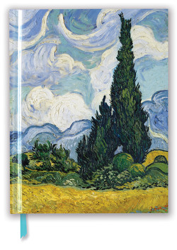 Premium Skizzenbuch: Vincent van Gogh, Weizenfeld mit Zypressen