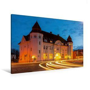 Premium Textil-Leinwand 120 cm x 80 cm quer, Der Alte Kreisbahnhof | Wandbild, Bild auf Keilrahmen, Fertigbild auf echter Leinwand, Leinwanddruck von CALVENDO