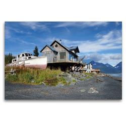 Premium Textil-Leinwand 120 x 80 cm Quer-Format Alaskas kurzer Herbst | Wandbild, HD-Bild auf Keilrahmen, Fertigbild auf hochwertigem Vlies, Leinwanddruck von Flori0