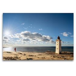 Premium Textil-Leinwand 120 x 80 cm Quer-Format Alter Leuchtturm Rubjerg Knude | Wandbild, HD-Bild auf Keilrahmen, Fertigbild auf hochwertigem Vlies, Leinwanddruck von Dieter Gödecke