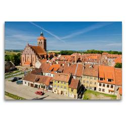 Premium Textil-Leinwand 120 x 80 cm Quer-Format Altstadt von Reszel   Wandbild, HD-Bild auf Keilrahmen, Fertigbild auf hochwertigem Vlies, Leinwanddruck von Oliver Nowak