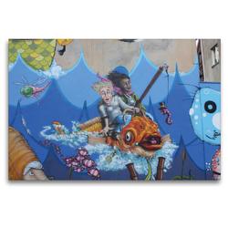 Premium Textil-Leinwand 120 x 80 cm Quer-Format Am Meer | Wandbild, HD-Bild auf Keilrahmen, Fertigbild auf hochwertigem Vlies, Leinwanddruck von SchnelleWelten