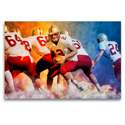 Premium Textil-Leinwand 120 x 80 cm Quer-Format American Football | Wandbild, HD-Bild auf Keilrahmen, Fertigbild auf hochwertigem Vlies, Leinwanddruck von Peter Roder