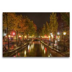 Premium Textil-Leinwand 120 x 80 cm Quer-Format Amsterdam – Rotlichtviertel | Wandbild, HD-Bild auf Keilrahmen, Fertigbild auf hochwertigem Vlies, Leinwanddruck von TJPhotography (Thorsten Jung)