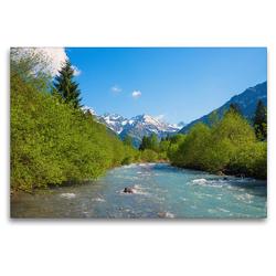 Premium Textil-Leinwand 120 x 80 cm Quer-Format An der Stillach | Wandbild, HD-Bild auf Keilrahmen, Fertigbild auf hochwertigem Vlies, Leinwanddruck von SusaZoom