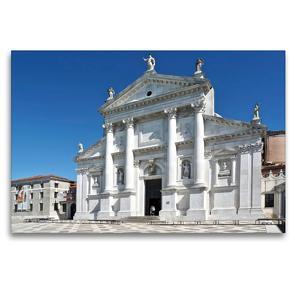 Premium Textil-Leinwand 120 x 80 cm Quer-Format Basilika San Giorgio Maggiore in Venedig, Italien | Wandbild, HD-Bild auf Keilrahmen, Fertigbild auf hochwertigem Vlies, Leinwanddruck von Marion Meyer © Stimmungsbilder1