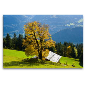 Premium Textil-Leinwand 120 x 80 cm Quer-Format Bergwelten Vorarlberg | Wandbild, HD-Bild auf Keilrahmen, Fertigbild auf hochwertigem Vlies, Leinwanddruck von N N