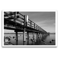 Premium Textil-Leinwand 120 x 80 cm Quer-Format Bilder vom See | Wandbild, HD-Bild auf Keilrahmen, Fertigbild auf hochwertigem Vlies, Leinwanddruck von Martina Marten