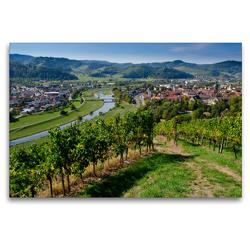 Premium Textil-Leinwand 120 x 80 cm Quer-Format Blick auf Gengenbach | Wandbild, HD-Bild auf Keilrahmen, Fertigbild auf hochwertigem Vlies, Leinwanddruck von Tanja Voigt