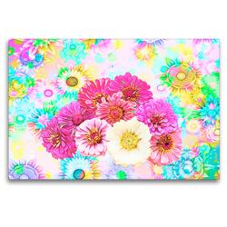 Premium Textil-Leinwand 120 x 80 cm Quer-Format Blumenpower   Wandbild, HD-Bild auf Keilrahmen, Fertigbild auf hochwertigem Vlies, Leinwanddruck von Liselotte Brunner-Klaus
