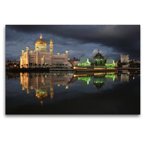 Premium Textil-Leinwand 120 x 80 cm Quer-Format Brunei   Wandbild, HD-Bild auf Keilrahmen, Fertigbild auf hochwertigem Vlies, Leinwanddruck von Peter Schickert