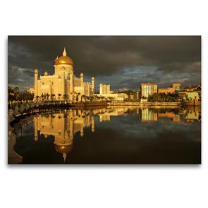 Premium Textil-Leinwand 120 x 80 cm Quer-Format Brunei | Wandbild, HD-Bild auf Keilrahmen, Fertigbild auf hochwertigem Vlies, Leinwanddruck von Peter Schickert