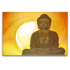 Premium Textil-Leinwand 120 x 80 cm Quer-Format Buddha in aller Stille   Wandbild, HD-Bild auf Keilrahmen, Fertigbild auf hochwertigem Vlies, Leinwanddruck von Claudia Burlager