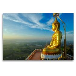 Premium Textil-Leinwand 120 x 80 cm Quer-Format Buddha on Hill at Wat Tham Sua, Krabi | Wandbild, HD-Bild auf Keilrahmen, Fertigbild auf hochwertigem Vlies, Leinwanddruck von Christian Heeb