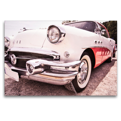 Premium Textil-Leinwand 120 x 80 cm Quer-Format Buick, US amerikanischer V8 | Wandbild, HD-Bild auf Keilrahmen, Fertigbild auf hochwertigem Vlies, Leinwanddruck von Holger Gräbner