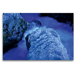 Premium Textil-Leinwand 120 x 80 cm Quer-Format Cascades du Sautadet   Wandbild, HD-Bild auf Keilrahmen, Fertigbild auf hochwertigem Vlies, Leinwanddruck von Katja ledieS
