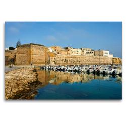 Premium Textil-Leinwand 120 x 80 cm Quer-Format Castello Otranto | Wandbild, HD-Bild auf Keilrahmen, Fertigbild auf hochwertigem Vlies, Leinwanddruck von Martin Rauchenwald
