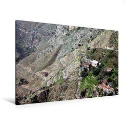 Premium Textil-Leinwand 120 x 80 cm Quer-Format Castelmola   Wandbild, HD-Bild auf Keilrahmen, Fertigbild auf hochwertigem Vlies, Leinwanddruck von Helene Seidl