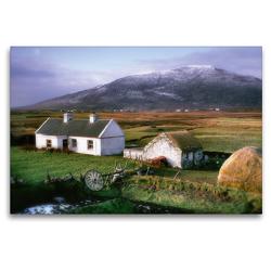 Premium Textil-Leinwand 120 x 80 cm Quer-Format Cottage auf Achill | Wandbild, HD-Bild auf Keilrahmen, Fertigbild auf hochwertigem Vlies, Leinwanddruck von N N