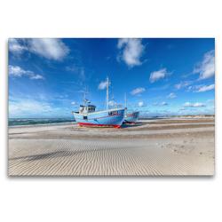 Premium Textil-Leinwand 120 x 80 cm Quer-Format Dänemarks Norden II   Wandbild, HD-Bild auf Keilrahmen, Fertigbild auf hochwertigem Vlies, Leinwanddruck von Oliver Schwenn