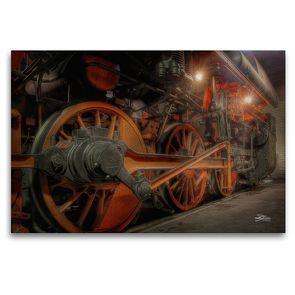 Premium Textil-Leinwand 120 x 80 cm Quer-Format Dampfgestänge | Wandbild, HD-Bild auf Keilrahmen, Fertigbild auf hochwertigem Vlies, Leinwanddruck von Danny Elskamp-D.Elskamp Photography