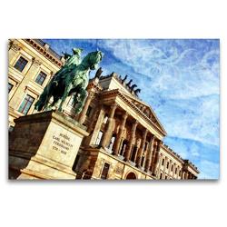 Premium Textil-Leinwand 120 x 80 cm Quer-Format Das wiederaufgebaute Residenzschloss in Braunschweig | Wandbild, HD-Bild auf Keilrahmen, Fertigbild auf hochwertigem Vlies, Leinwanddruck von Reiner Silberstein