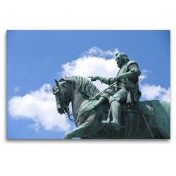 Premium Textil-Leinwand 120 x 80 cm Quer-Format Denkmal Maximilian Kurfürst von Bayern | Wandbild, HD-Bild auf Keilrahmen, Fertigbild auf hochwertigem Vlies, Leinwanddruck von Pia Thauwald