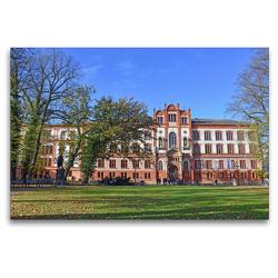 Premium Textil-Leinwand 120 x 80 cm Quer-Format Die 1419 gegründete Universität Rostock ist die Älteste im Ostseeraum   Wandbild, HD-Bild auf Keilrahmen, Fertigbild auf hochwertigem Vlies, Leinwanddruck von Ulrich Senff