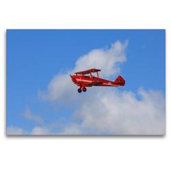 Premium Textil-Leinwand 120 x 80 cm Quer-Format Doppeldecker Einsitzer Flugzeug | Wandbild, HD-Bild auf Keilrahmen, Fertigbild auf hochwertigem Vlies, Leinwanddruck von Frank Gayde