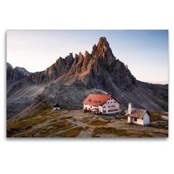 Premium Textil-Leinwand 120 x 80 cm Quer-Format Dreizinnenhütte (2.405m), Italien   Wandbild, HD-Bild auf Keilrahmen, Fertigbild auf hochwertigem Vlies, Leinwanddruck von Gerhard Aust