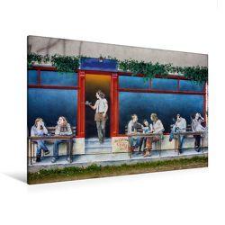 Premium Textil-Leinwand 120 x 80 cm Quer-Format Dresdner-Neustadt Bautzner Straße 55   Wandbild, HD-Bild auf Keilrahmen, Fertigbild auf hochwertigem Vlies, Leinwanddruck von Dirk Meutzner