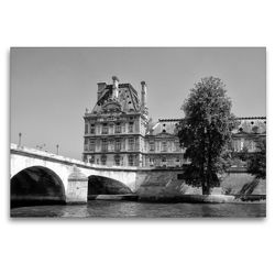 Premium Textil-Leinwand 120 x 80 cm Quer-Format Ecole de Louvre in Paris | Wandbild, HD-Bild auf Keilrahmen, Fertigbild auf hochwertigem Vlies, Leinwanddruck von kattobello