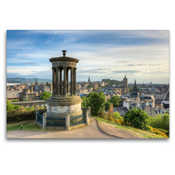 Premium Textil-Leinwand 120 x 80 cm Quer-Format Edinburgh Calton Hill | Wandbild, HD-Bild auf Keilrahmen, Fertigbild auf hochwertigem Vlies, Leinwanddruck von Michael Valjak