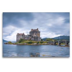 Premium Textil-Leinwand 120 x 80 cm Quer-Format Eilean Donan Castle | Wandbild, HD-Bild auf Keilrahmen, Fertigbild auf hochwertigem Vlies, Leinwanddruck von Harald Schnitzler