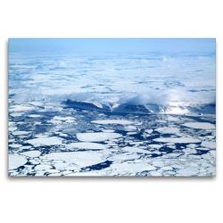 Premium Textil-Leinwand 120 x 80 cm Quer-Format Eisfelder und Eisberge in Grönland   Wandbild, HD-Bild auf Keilrahmen, Fertigbild auf hochwertigem Vlies, Leinwanddruck von Rainer Spoddig