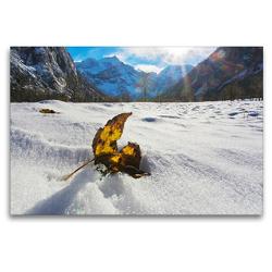 Premium Textil-Leinwand 120 x 80 cm Quer-Format Erste Sonne (Am großen Ahornbode) | Wandbild, HD-Bild auf Keilrahmen, Fertigbild auf hochwertigem Vlies, Leinwanddruck von Max Watzinger – traumbild –