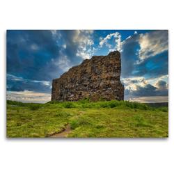 Premium Textil-Leinwand 120 x 80 cm Quer-Format Eyjan Felsen in Asbyrgi | Wandbild, HD-Bild auf Keilrahmen, Fertigbild auf hochwertigem Vlies, Leinwanddruck von Michael Zech Fotografie