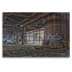 Premium Textil-Leinwand 120 x 80 cm Quer-Format Fabrikshalle verlassen | Wandbild, HD-Bild auf Keilrahmen, Fertigbild auf hochwertigem Vlies, Leinwanddruck von Gerd Matschek