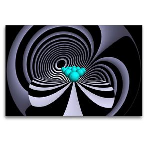 Premium Textil-Leinwand 120 x 80 cm Quer-Format Farben Formen Fisheye   Wandbild, HD-Bild auf Keilrahmen, Fertigbild auf hochwertigem Vlies, Leinwanddruck von IssaBild