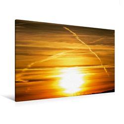 Premium Textil-Leinwand 120 x 80 cm Quer-Format Farbspiele am Himmel | Wandbild, HD-Bild auf Keilrahmen, Fertigbild auf hochwertigem Vlies, Leinwanddruck von Sven Herkenrath