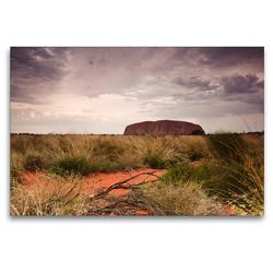 Premium Textil-Leinwand 120 x 80 cm Quer-Format Faszination Uluru | Wandbild, HD-Bild auf Keilrahmen, Fertigbild auf hochwertigem Vlies, Leinwanddruck von Luxscriptura by Wolfgang Schömig