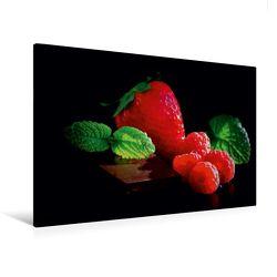 Premium Textil-Leinwand 120 x 80 cm Quer-Format Feine Beeren und süße Schokolade | Wandbild, HD-Bild auf Keilrahmen, Fertigbild auf hochwertigem Vlies, Leinwanddruck von Tanja Riedel von Riedel,  Tanja