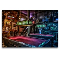 Premium Textil-Leinwand 120 x 80 cm Quer-Format Freizeit Billard | Wandbild, HD-Bild auf Keilrahmen, Fertigbild auf hochwertigem Vlies, Leinwanddruck von W.W. Voßen – Herzog von Laar am Rhein